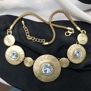 1980s RUNWAY RIVOLI CRYSTAL Statement Necklace